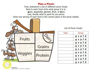 picture of picnic plan